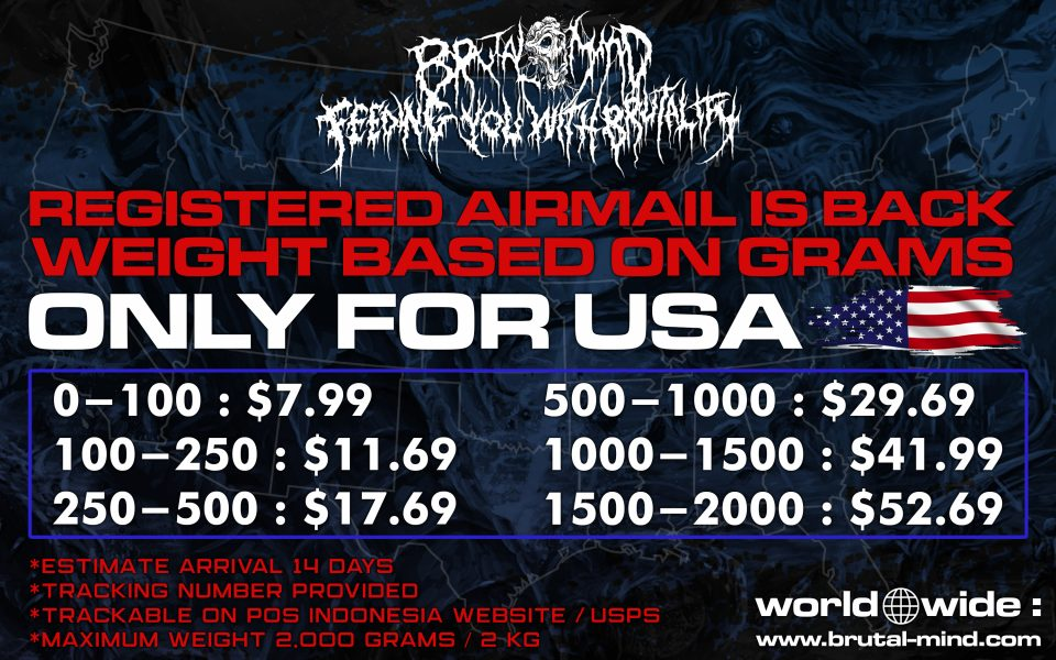 REGISTERED SHIPPING IS BACK! CURRENTLY ONLY USA!
